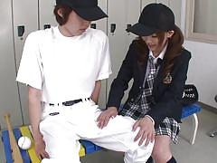 Asian school girl likes to lick