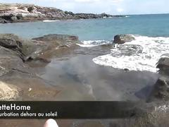 Exhibition a la plage avec ma cam voyeur en francais