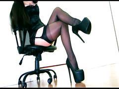 trance, stiletto, nylons, platform, corset, lipstick, stockings, hypno, hypnosis, garter, femdom, pantyhose, domme, gloves, heels