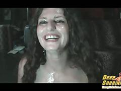 Sabrina deep bukkake and gokkun