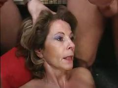 German gangbang with many cumshots