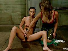 Masturbating at the instructions of her mistress