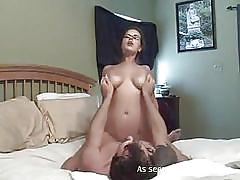 wife, glasses, homemade, amateur, big boobs, brunette, cowgirl, horny wife, bouncing boobs, gf melons, the gf network, gf melons, ama kings