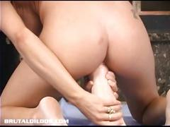 dildo, brunette, toy, masturbating, toys, masturbation, solo, sextoy, masturbate, insertion, brutal