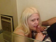 Pornstar barbie blaze sucks the cum out of her beau on the job