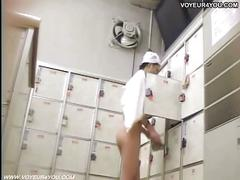 Hidden camera in girl's changing room.