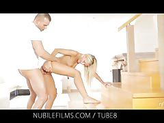 Nubile films - would you lick the cum from dido angels creampie pussy?