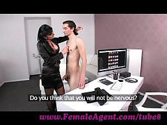Femaleagent. virgin gets expert guidance from milf