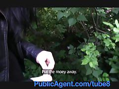 Publicagent british underwear model gets fucked in the bushes