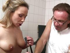 German milf visits doctor big dick