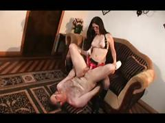 Cherry fucks mature man with her strapon