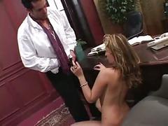 Latina employee sucks boss' cock