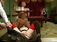 milf, ebony, interracial, whipping, reality, pussy licking, brunette, sex party, collar, coaster, the upper floor, kink, juliette march, nikki darling, maestro