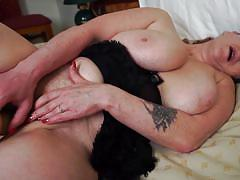 Horny leah fills her pussy with a dildo