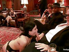 milf, bdsm, ebony, redhead, mistress, waitress, collar, tits torture, cock sucking, mouth fingering, private party, the upper floor, kink, derrick pierce, juliette march, nikki darling, mark davis, natalie moore