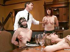 small tits, milf, bdsm, orgy, reality, mask, fingering, brunette, tied up, sex slave, on table, the upper floor, kink, chastity lynn, odile, coral aorta, maestro