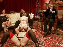 milf, facesitting, blonde, bdsm, public, reality, stockings, blowjob, sex party, face strapon, mouth strapon, the upper floor, kink, alani pi, dylan ryan, mickey mod