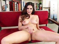 Beautiful sunny plays with her pussy