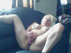 Sexy barbie blaze is stil horny so she cums again with her pink toy