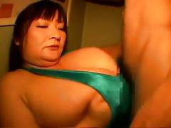 Censored asian bbw titjob