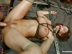 milf, bdsm, whipping, big boobs, fingering, brunette, tied up, lash, ball gag, electric wand, restraints, sex and submission, kink, syren de mer, mark davis