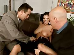 anal, big boobs, brunettes, cumshots, double penetration