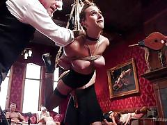 bdsm, hanging, whipping, blowjob, tied up, busty babes, sex slaves, rope bondage, slave training, the upper floor, kink, ashley adams, john strong