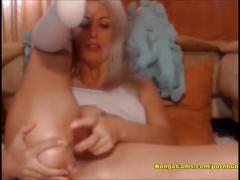 Vagina deep dildo penetration