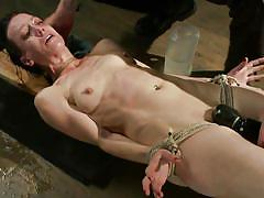 small tits, bdsm, skinny, crying, vibrator, brunette, tied up, ropes, suffocation, mom, sadistic rope, kink, elise graves