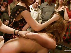 milf, bdsm, big tits, public, gangbang, humiliation, fingering, blindfolded, brunette, mouth fuck, collar, tied hands, public disgrace, kink, xander corvus, kenzie vaughn