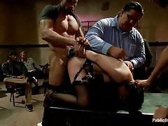 milf, lesbian, fisting, bdsm, public, stockings, screaming, brunette, tied up, from behind, ass slapping, clamps, public disgrace, kink, mia gold, lorelei lee, juliette march, mickey mod, karlo karrera
