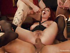 anal, bdsm, gang bang, redhead, blowjob, double penetration, reverse cowgirl, busty babe, on the floor, hardcore gangbang, kink, john strong, gage sin, ashlee graham, ramon nomar, owen gray, tommy pistol