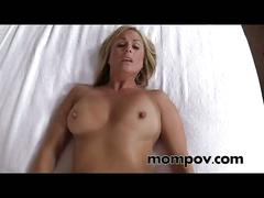 Hot milf gets a big cream pie on camera