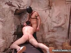 hunks, blowjobs, bdsm & fetish, big cocks, hardcore, bdsm, chained, dildo, fetish, gay, gay blowjob, sex toys, slave, spanking