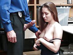 Caught shoplifting and fucked hard