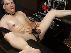 Guy torturing himself to satisfy clients