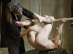 bdsm, babe, whipping, punishment, domination, nipple torture, rope bondage, electric vibrator, wax torture, wasteland, master shadrack