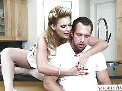 milf, blonde, big ass, big tits, latina, kitchen, pussy licking, boobs sucking, on the table, cheating husband, my wife's hot friend, naughty america, phoenix marie, johnny castle