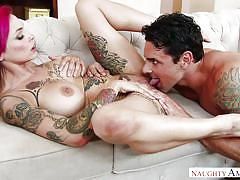Busty tattooed milf was drilled in missionary