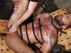 gays, bdsm, handjob, rope bondage, threesome, blowjob, anal, device bondage, tattooed, machine fuck, bearded gays, men on edge, kink men, rikk york