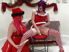 Christmas fuck party and spanking