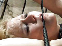 blonde, bdsm, babe, vibrator, collar, clothespins, hot wax, rope bondage, twig, wasteland