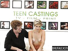 small tits, blonde, babe, casting, rough sex, domination, blowjob, short hair, brutal castings, fetish network, makeena reese