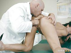 milf, big tits, rimjob, doctor, blowjob, eating pussy, big dick, from behind, exam room, doctor adventures, brazzers, johnny sins, reagan foxx