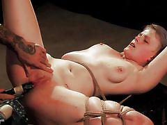 blonde, bdsm, babe, domination, dildo, tattooed, rope bondage, electric vibrator, wasteland, master shadrack
