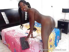 Cam girl is an ebony beauty
