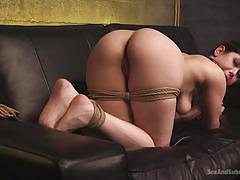 bdsm, big ass, babe, domination, mouth fuck, from behind, submission, ball gag, ass whipping, rope bondage, sex and submission, kink, seth gamble, audrey noir