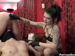 Femdom mistress eden in bisex domination of male slaves