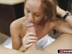 Sweet juicy chick abby giving her pussy some cock