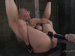 Blonde treated like a worthless slut